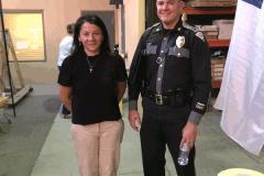 Sandra with NMSP Capt. Jesse Williams